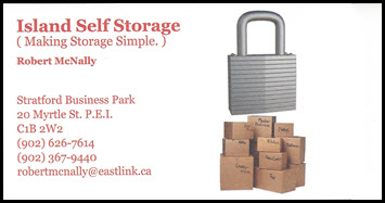 Island Self Storage Business Cards