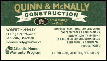 Quinn and McNally Business Cards