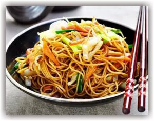 Hot Szechuan Noodle with vegetable (Wheat Noodle)