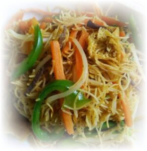 Singapore Rice Noodle with Vegetable